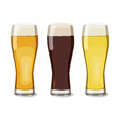 A set of glasses with different beers views. Vector illustration of beer, isolated. Oktoberfest