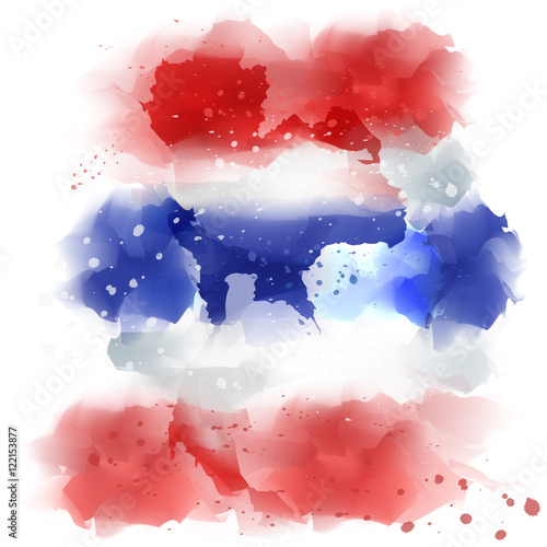 vector map of thailand Watercolor paint - Buy this stock ...