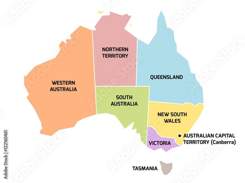 Australia Map Territories.Australia Map With States And Territories Buy This Stock Vector