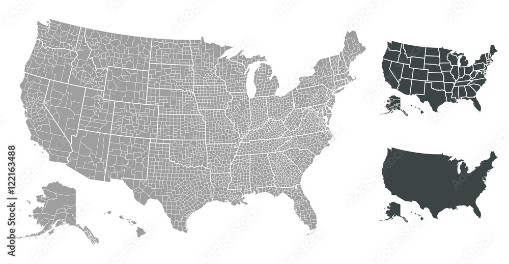 Fototapety, obrazy: United States of America map