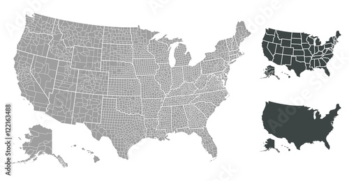 Fototapeta United States of America map obraz