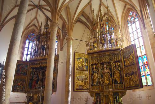 Fotografie, Obraz  L'église Mariä Himmelfahrt de Hallstatt