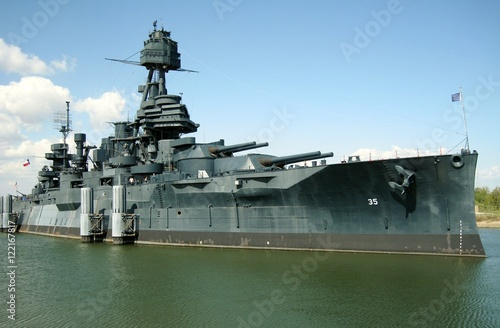 Photo Battleship Texas at San Jacinto