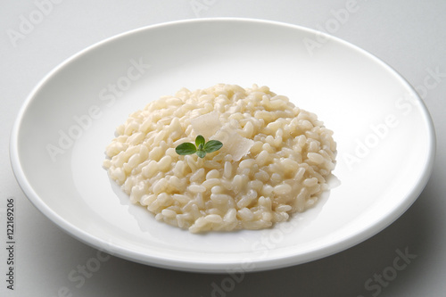 Dish of risotto with cheese