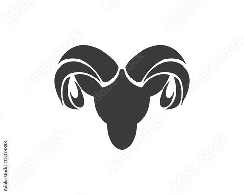 Tablou Canvas Rams head silhouette
