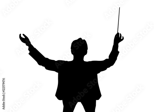 Music conductor back from a bird's eye view Wallpaper Mural
