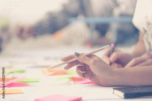 Obraz Hands. Team work. Design thinking. Startup - fototapety do salonu