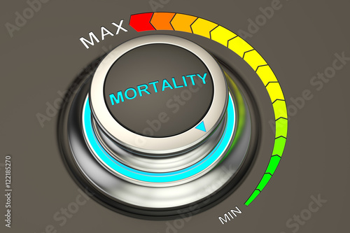 Fotomural min level of mortality concept, 3D rendering
