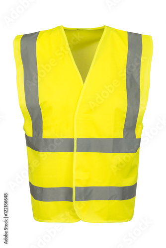Fotografía  Cutout of Front of Yellow Safety Vest