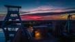 canvas print picture - Zeche Ewald bei Sonnenuntergang