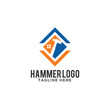 Hammer Creative Concept Logo Design