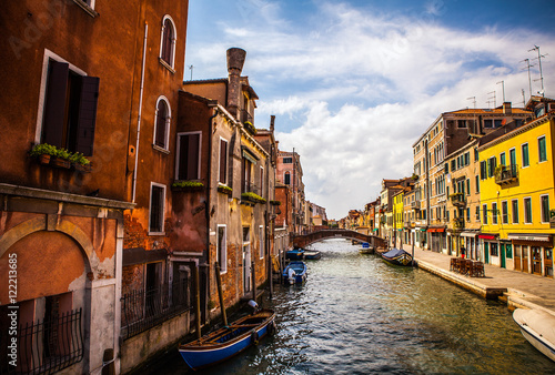 Fototapety, obrazy: VENICE, ITALY - AUGUST 17, 2016: View on the cityscape of Grand Canal on August 17, 2016 in Venice, Italy.
