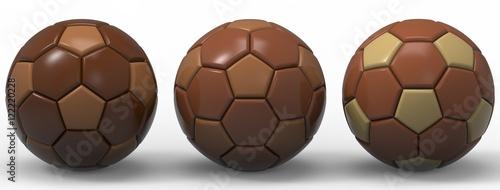 Deurstickers Retro Soccer ball. 3D illustration. 3D CG.