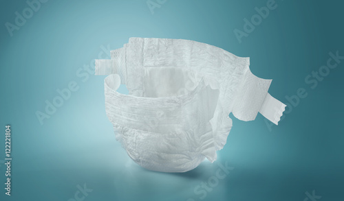 Diapers. Isolated. Baby care Fototapet