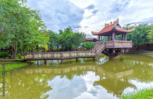 The One Pillar Pagoda in Long An, Vietnam