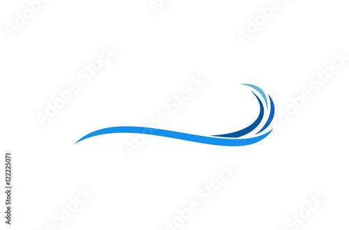 Obraz na płótnie wave logo vector