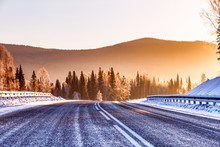 The Road In The Winter Mountai...