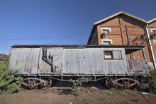 Old Train Wagon Deteriorating At The Station