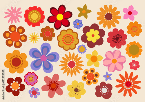 Fleurs des années soixante-dix (part 3) Poster Mural XXL