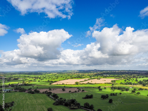 Fotografiet View of the Cheshire Countryside from Beeston Castle