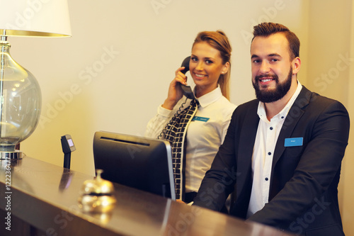 Photo  Receptionists at work