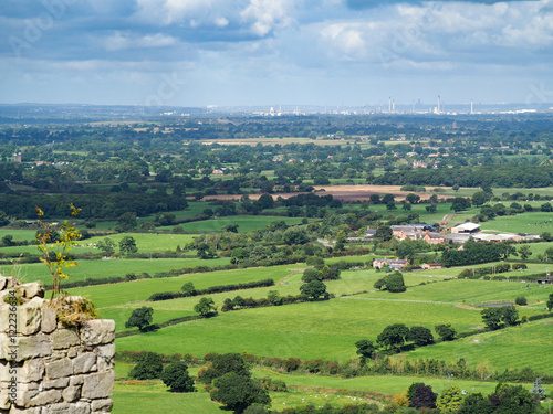 Tela View of the Cheshire Countryside from Beeston Castle