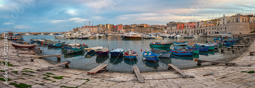 Bisceglie old port (Puglia Italy) Canvas Print