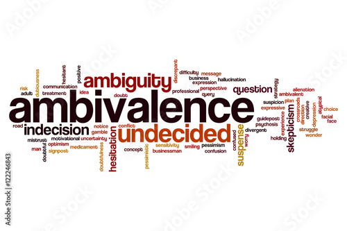 Ambivalence word cloud Wallpaper Mural