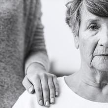 Elderly Woman With Alzheimer