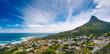canvas print picture - Cape Town panoramic landscape