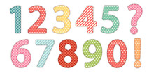 Cute Vintage Shabby Chic Style Numbers For Your Decoration