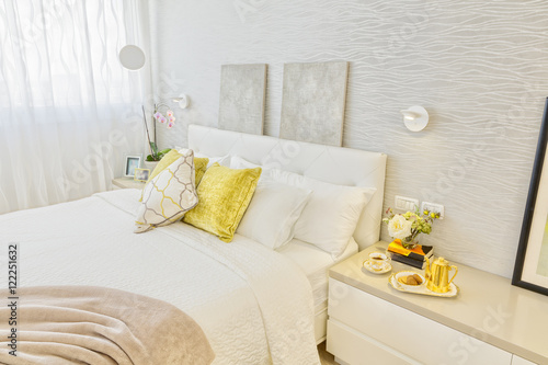 Modern Luxury Bedroom Canvas Print