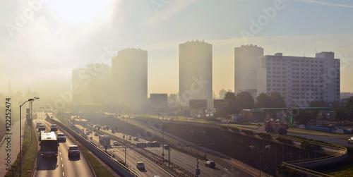 """Fotografie, Obraz  Katowice - """"Gwiazdy"""" in the fog"""