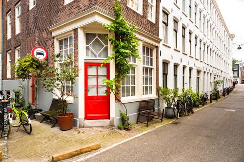 Photo  Quaint Amsterdam Street
