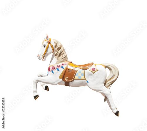 Fotografie, Obraz  classic isolated carousel horse