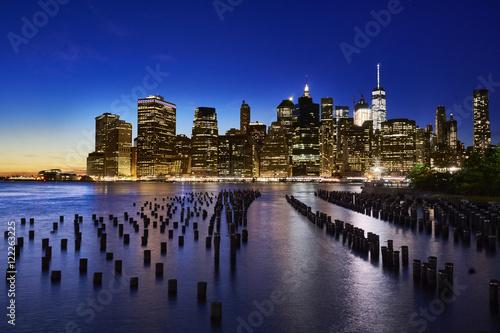 Canvas Prints Dusk Manhattan panorama