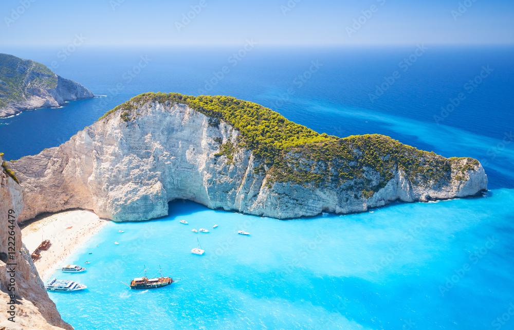 Fototapeta Zakynthos, Greek island, Navagio bay