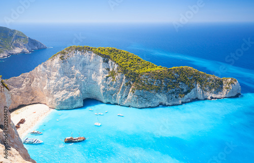 Zakynthos, Greek island, Navagio bay Wallpaper Mural
