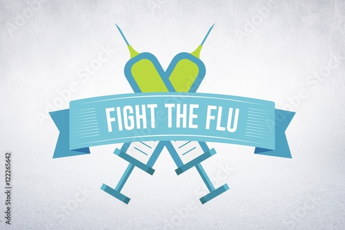 Photographie  Composite image of fight the flu