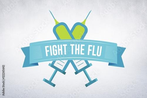 Cuadros en Lienzo  Composite image of fight the flu
