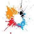 abstract splatter multicolor design. illustration vector design