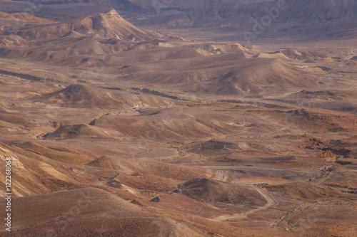 Desert moon-alike landscape near Masada, Israel