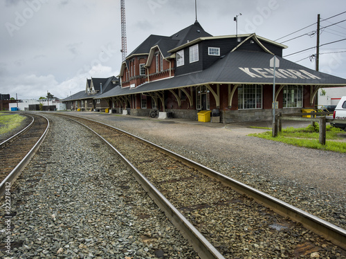 Foto auf AluDibond Bahnhof lake14076