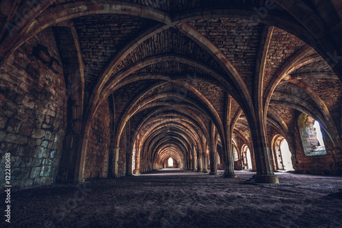 Photo Fountains abbey yorkshire england uk