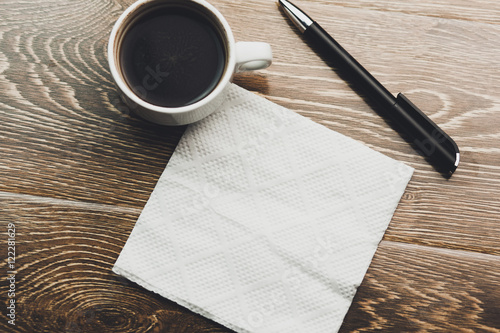Fotografie, Obraz coffee with napkin