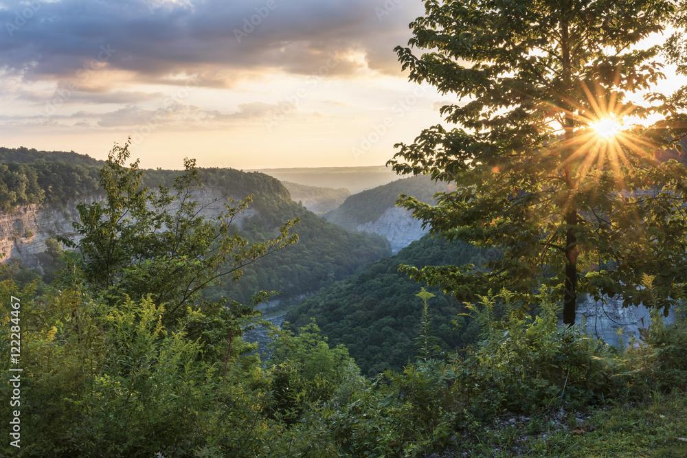 Fototapety, obrazy: Sunrise At Letchworth State Park