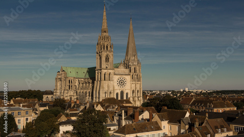 Foto op Canvas Monument The Our Lady of Chartres cathedral, France.