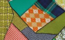 Retro Crazy Quilt Patchwork Up...