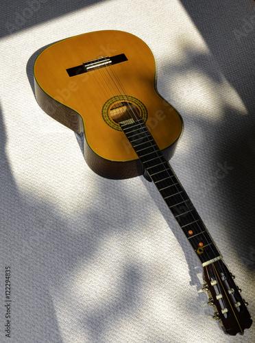 Fotografie, Obraz Acoustic Spanish Flamenco Guitar