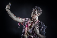 Male Zombie Using Cell Phone T...